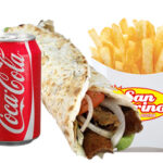 1 x Wrap, Chips And Can Of Drink