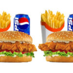 2 x Chicken Burgers, 2 Chips and 2 Can Of Drink