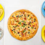 "2x16"" Pizza, 1 Portion Potato Wedges,1 Garlic Bread"