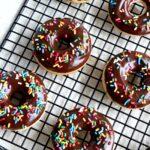 8 mini chocolate donuts